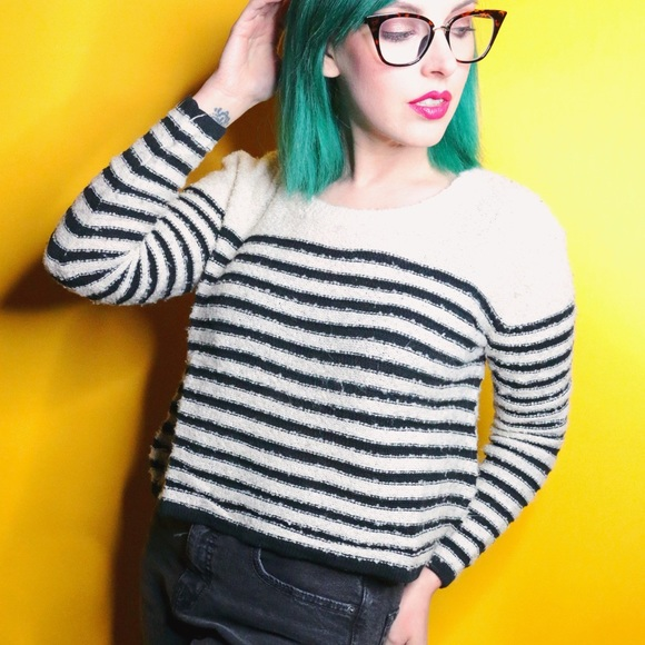 bp Sweaters - Navy Striped Sweater